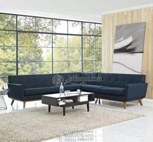 Set Kursi Tamu Full Sofa Sudut Kayu Jati