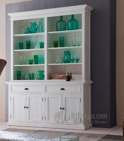 Jual lemari hias minimalis duco putih Murah