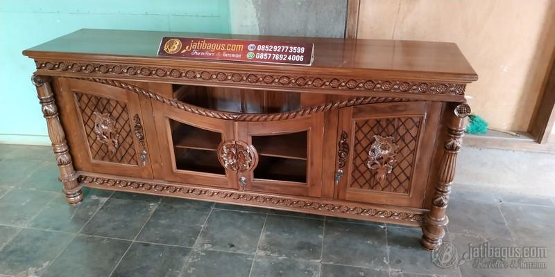 Meja Tv Ukir Klasik Jepara 2 Meter