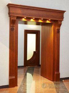 Desain Kusen Pintu Pembatas Ruangan Minimalis Kayu Jati