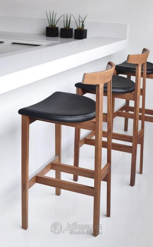Kursi Cafe Minibar Minimalis Modern Jati