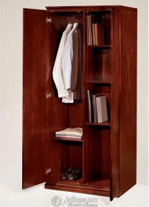 Lemari Pakaian Minimalis Banyak Rak Buku 2 Pintu