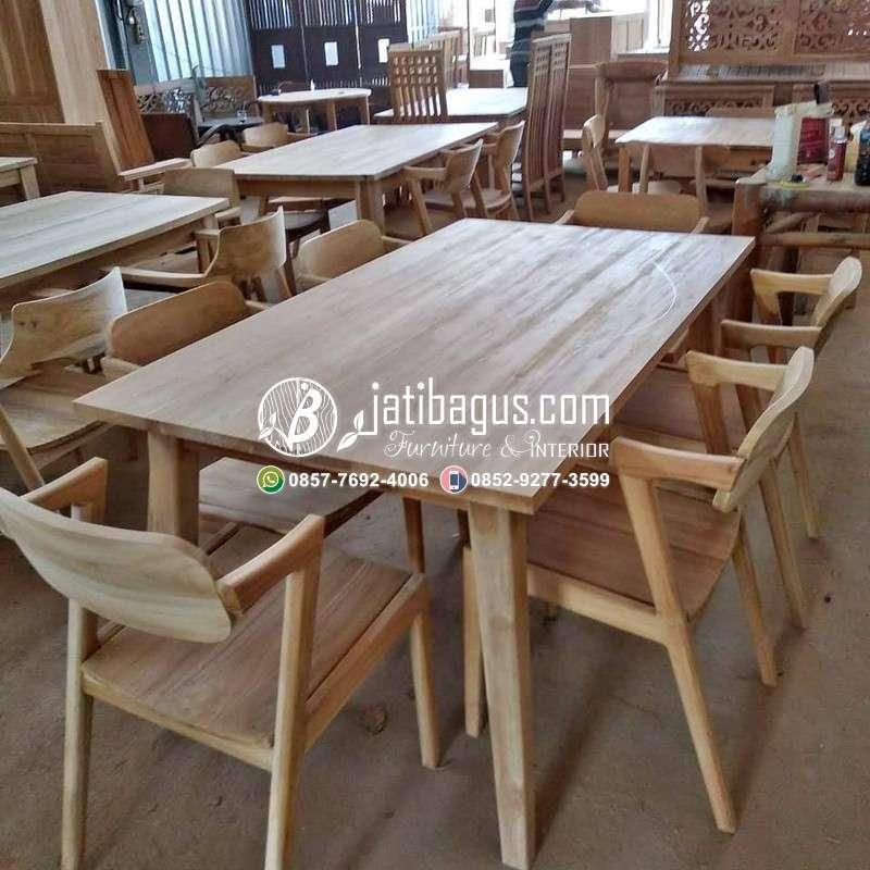 Kursi Cafe Resto Kayu Minimalis - Model 11