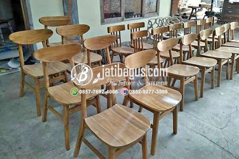 Kursi Cafe Resto Kayu Minimalis - Model 19