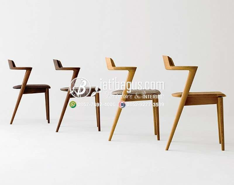 Kursi Cafe Resto Kayu Minimalis - Model 34