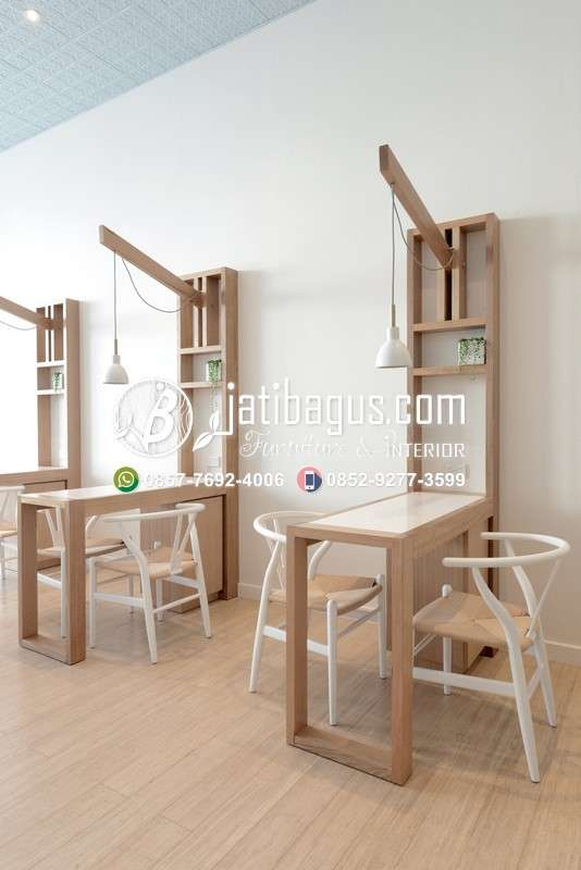 Kursi Cafe Resto Kayu Minimalis - Model 54