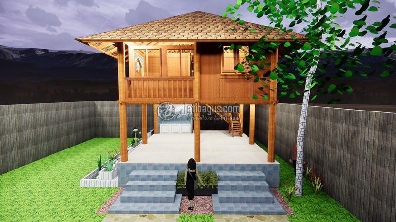 Rumah Kayu Minimalis Modern Panggung