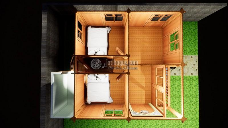 Desain Dalam Rumah Kayu Minimalis Modern