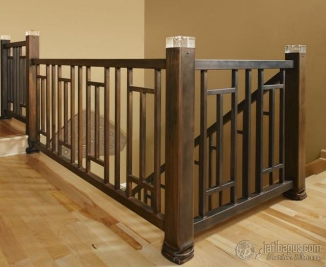 Pagar Kayu Minimalis Model 2 in 1 (Railing)