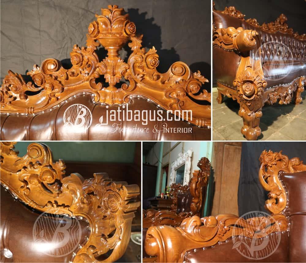 Detail Ukiran Kursi Tamu Sofa Ukir Klasik & Mewah