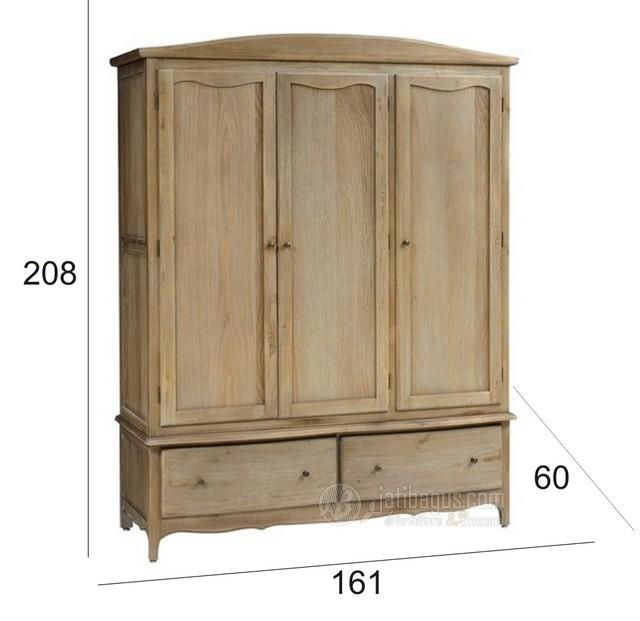 Ukuran Lemari Pakaian 3 Pintu Minimalis Klasik