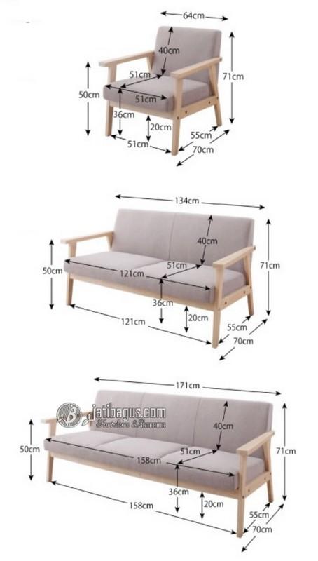 Ukuran Set Kursi Tamu Minimalis Custom Formasi