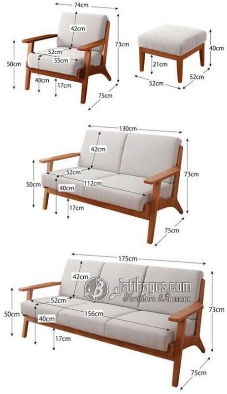 Ukuran Set Kursi Tamu Minimalis Sofa Putih Hijau