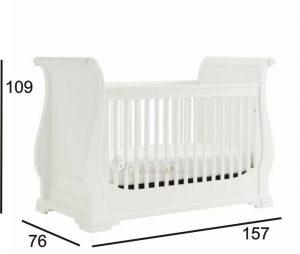 Ukuran Box Tempat Tidur Bayi Minimalis Kayu Solid