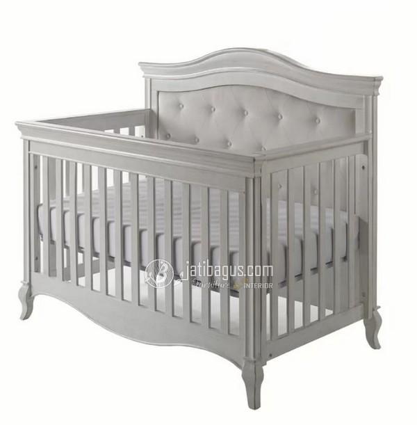Ukuran Box Tempat Tidur Bayi Kayu Mahoni Solid