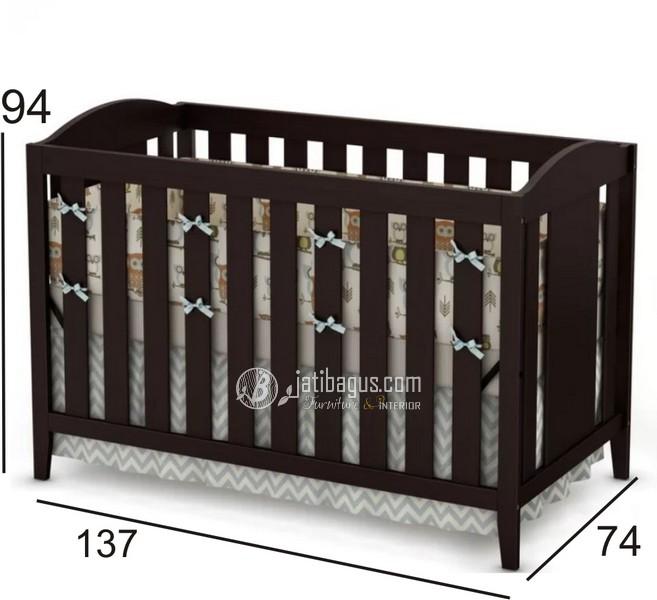 Ukuran Box Tempat Tidur Bayi Lengkung Atas
