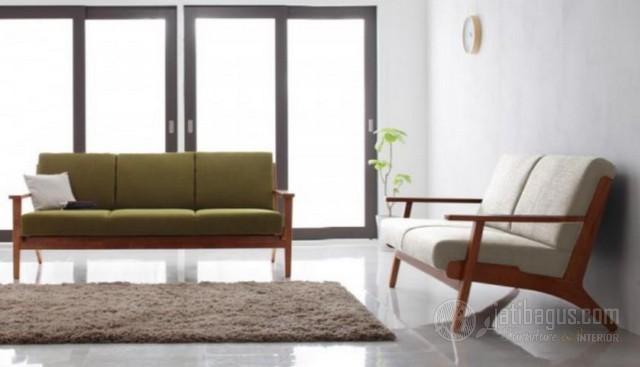 Set Kursi Tamu Minimalis Sofa Putih Hijau