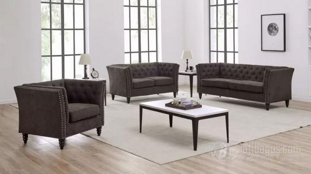 Set Kursi Tamu Sofa Jok Penuh Rangka Kayu Solid
