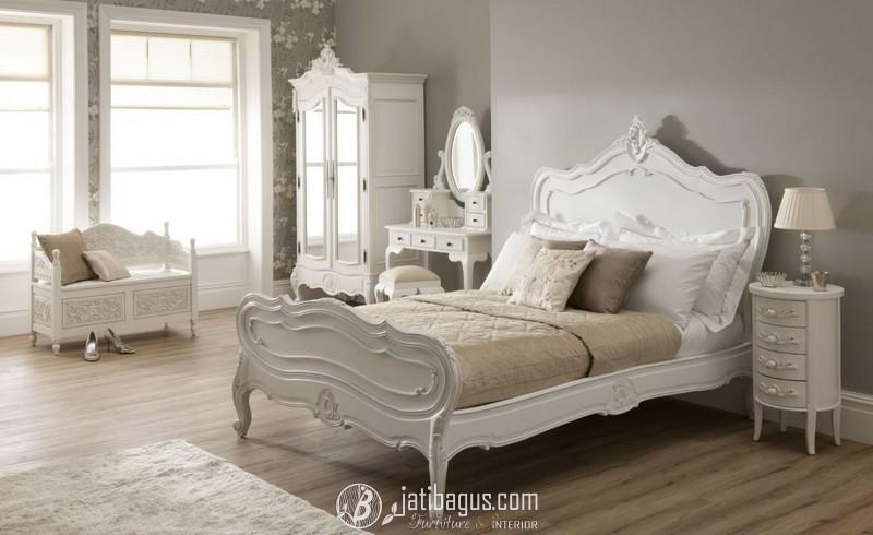 Set Kamar Tidur Duco Putih Nakas Cute