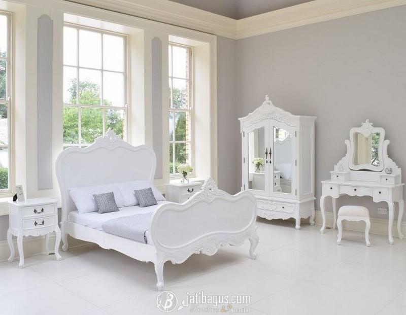 Set Tempat Tidur Ukiran Duco Clean