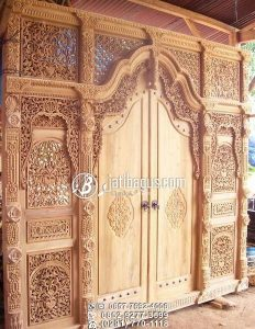 Pintu Ukiran Jawa Rumah Joglo Kayu Jati