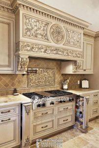 Kitchen Set Ukir Desain Mewah Simpel Modern