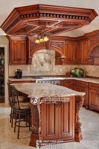 Kitchen Set Ukiran Mewah Kayu Jati Produk Jepara Italian Design