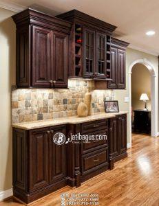 Lemari Serbaguna Desain Seperti Kitchen Set Minimalis Kayu Solid