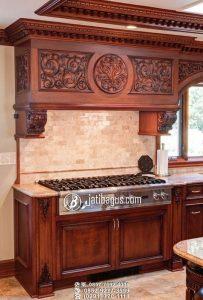 Tempat Kompor Plus Exhaust Kitchen Set Ukiran Mewah Raja Ratu