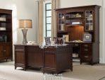 Meja Kantor Minimalis Klasik Kayu Jati Solid Tarikan Modern