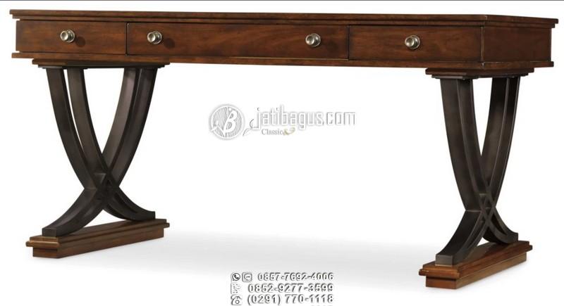Meja Kantor Minimalis Silang Lengkung Peluru Mewah Custom Desain