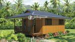 Rumah Kayu Minimalis Besar Kayu Solid