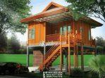 Rumah Kayu Minimalis Villa Bukit