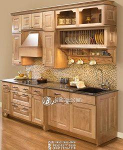 Kitchen Set Minimalis Kayu Custom Warna Cerah