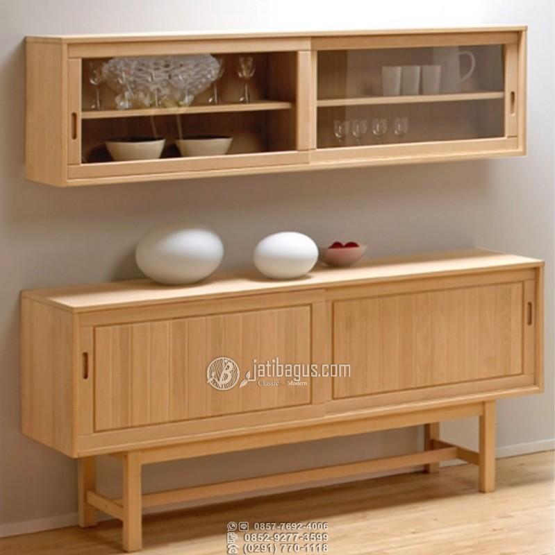 Lemari perabotan minimalis plus rak gantung pintu sliding modern menjadi salah satu furniture idaman. Dengan nilai fungsinya yang luas