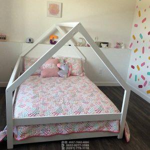 Tempat Tidur Anak Minimalis Model Rumah Segitiga a Tempat Kelambu