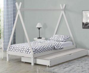 Tempat Tidur Anak Minimalis Springbed Geser Roda Bawah