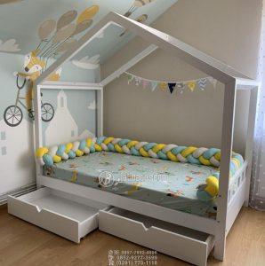 Tempat Tidur Anak Minimalis Terlaris 2 Laci Besar Depan Serbaguna